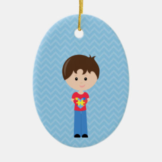 Autismus-Junge personalizable auf Anfrage Keramik Ornament