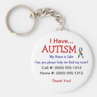 Autismus-Kind-Identifikations-Reißverschluss-Zug ( Standard Runder Schlüsselanhänger