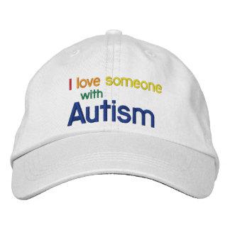 Autismus-Leinwand-Hut Bestickte Baseballkappe