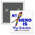 Autismus mein Held ist mein Enkel Buttons