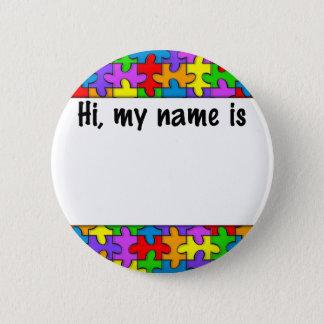 Autismus-Namensschild Runder Button 5,1 Cm