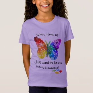 Autismus-Puzzlespiel-Schmetterling, wenn ich T-Shirt