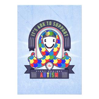 Autismus - Retro Wohltätigkeit-Band - Einladung