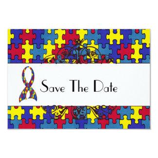 Autismus Save the Date 8,9 X 12,7 Cm Einladungskarte