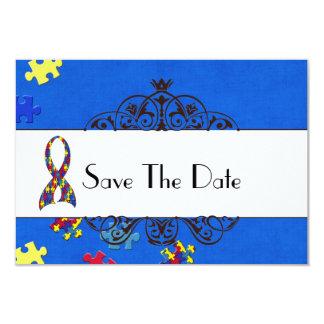 Autismus Save the Date Individuelle Ankündigungskarte