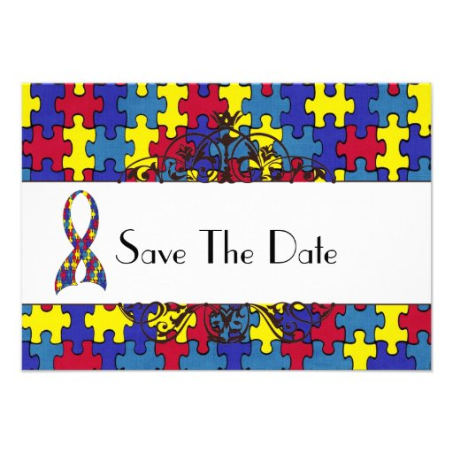 Autismus Save the Date Personalisierte Ankündigungskarte