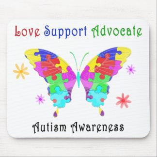 Autismus-Schmetterling Mousepad
