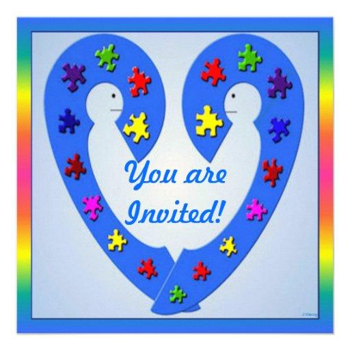 Autismus-Seminar-Einladungs-Karte Personalisierte Einladungen