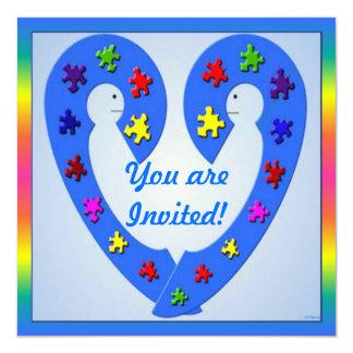 Autismus-Seminar-Einladungs-Karte Quadratische 13,3 Cm Einladungskarte