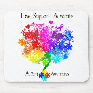 Autismus-Spektrum-Baum Mauspads