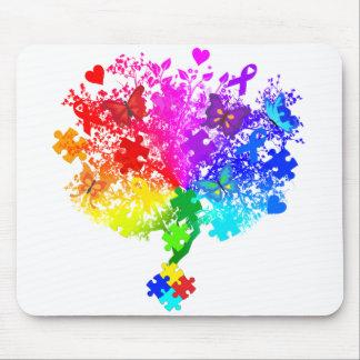Autismus-Spektrum-Baum Mousepads