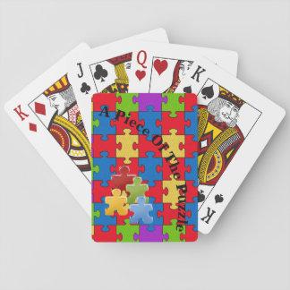 Autismus-Spielkarten Spielkarten