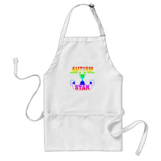 """Autismus-Stern-T - Shirt """". Schürze"""