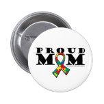 Autismus-stolze Mamma Buttons