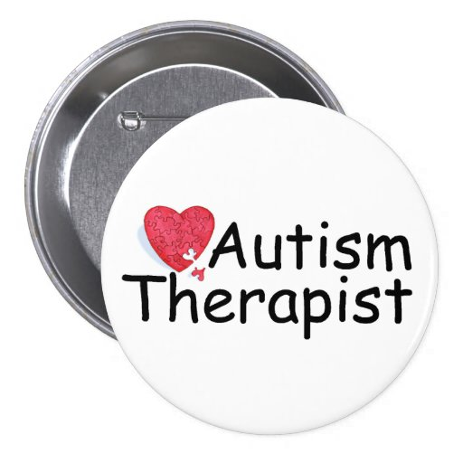 Autismus-Therapeut (Hrt Puzzlespiel) Runder Button 7,6 Cm