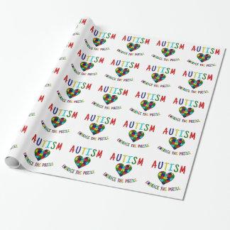 Autismus-Umarmung das Puzzlespiel Geschenkpapier