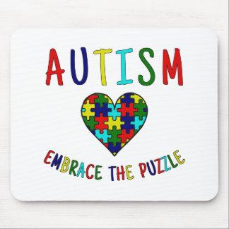 Autismus-Umarmung das Puzzlespiel Mousepad
