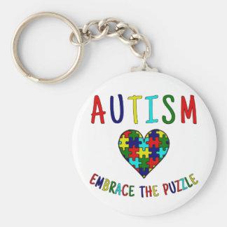 Autismus-Umarmung das Puzzlespiel Schlüsselanhänger