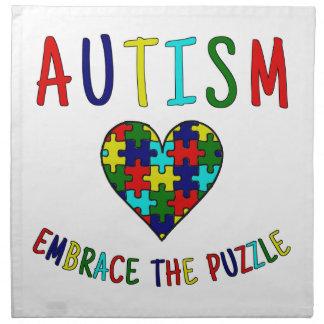 Autismus-Umarmung das Puzzlespiel Stoffserviette