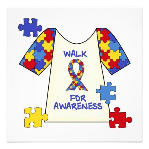 Autismus-Weg für Bewusstsein Individuelle Ankündigung