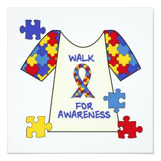 Autismus-Weg für Bewusstsein Quadratische 13,3 Cm Einladungskarte