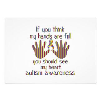 Autismusbewusstsein Ankündigung