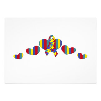 Autismusbewusstsein Individuelle Ankündigskarten