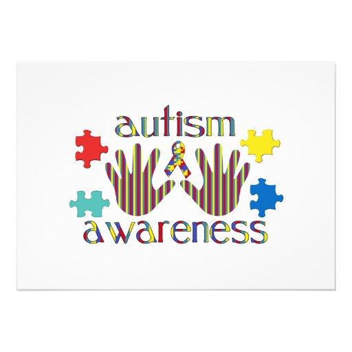 Autismusbewusstsein Individuelle Einladungen