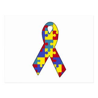 Autismusbewusstsein Postkarte