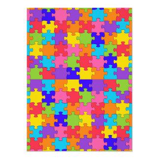Autismuspuzzlespiel 14 X 19,5 Cm Einladungskarte