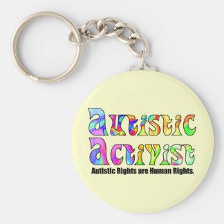 Autistischer Aktivist (Farbe) Keychain Schlüsselband