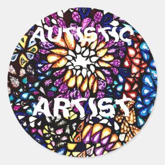 Autistischer Künstler Runder Aufkleber