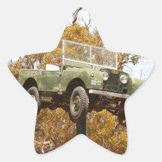 Auto auf einem Pfosten, Keith, Australien Stern-Aufkleber