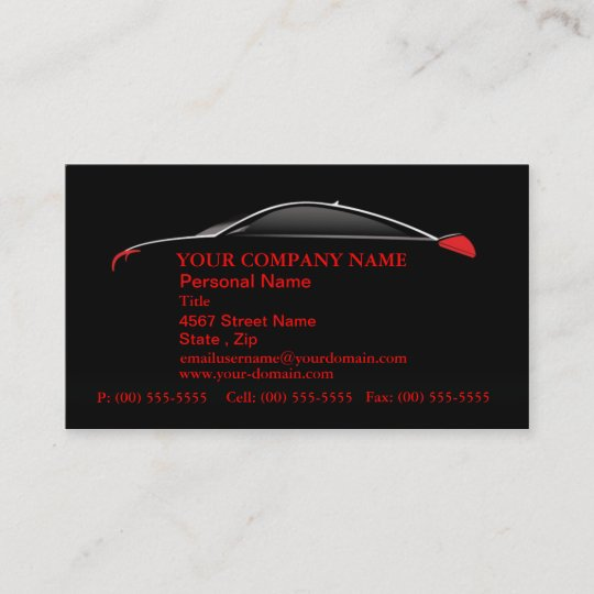 Auto Automobilservice Verkaufs Visitenkarten Visitenkarte