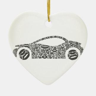 Auto eine Lippe Keramik Ornament