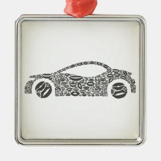 Auto eine Lippe Quadratisches Silberfarbenes Ornament