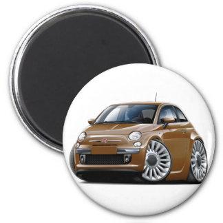 Auto Fiats 500 Brown Runder Magnet 5,1 Cm