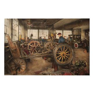 Auto - Garage - Arbeit des blauen Kragens 1923 Holzwanddeko