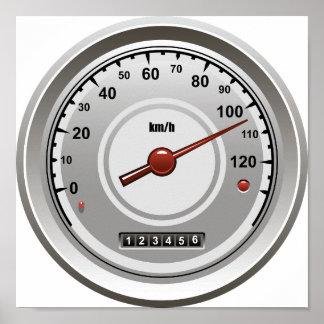 Auto-Geschwindigkeitsmesser-Plakat Poster