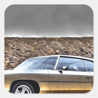 Auto Hdr Veteranen-Klassiker 1972 Quadratischer Aufkleber