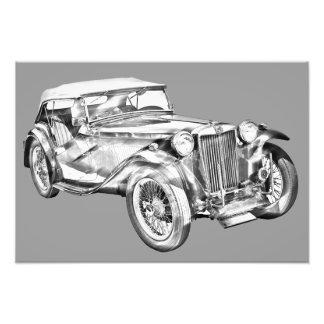 Auto-Illustration Sport Magnesiums Tc antike Fotodrucke
