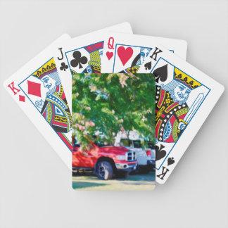 Auto in grüner Natur 2 Bicycle Spielkarten