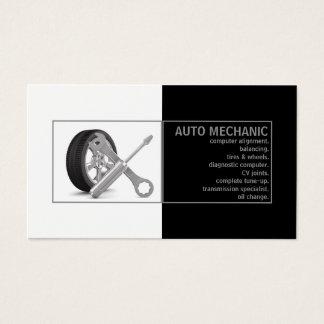 Auto-Mechaniker-Service-Schwarz-weiße Karte