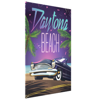 Auto-Reiseplakat Daytona Beach Vintages Gespannte Galerie Drucke