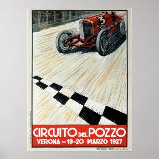 Auto-Rennen-Plakat 1927 Circuito Del Pozzo Verona Poster