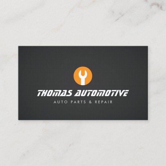 Auto Reparatur Schlüssel Logo Geschäfts Karte Visitenkarte