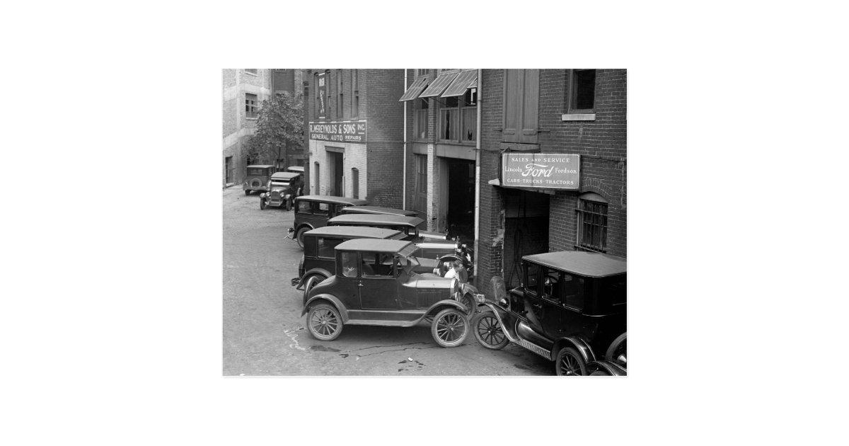 auto sales und service 1926 postkarte zazzle. Black Bedroom Furniture Sets. Home Design Ideas