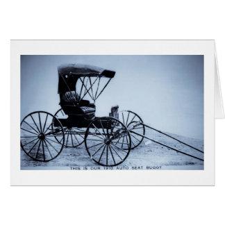 Auto-SitzBuggy-cyan-blauer Ton 1910 Karte