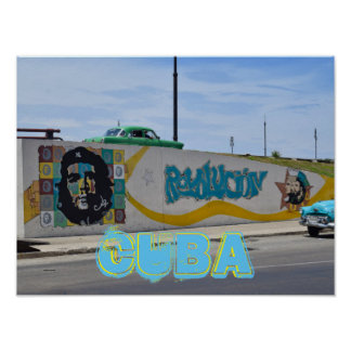 Auto-Straßen-Kunst Havanas Kuba alte Poster