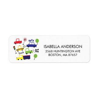 Auto-u. LKW-Babyparty-Adressen-Etikett
